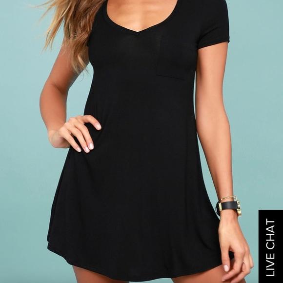 44e9aaa34 Lulu's Dresses | Lulus Better Together Black Shirt Dress | Poshmark